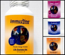 Buy Immuzyme, Daily Health and OPC-165's and receive a probiotic on us!